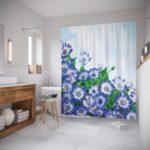 тканевая штора для ванной фотопечать