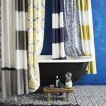 тканевая штора для ванной идеи декора