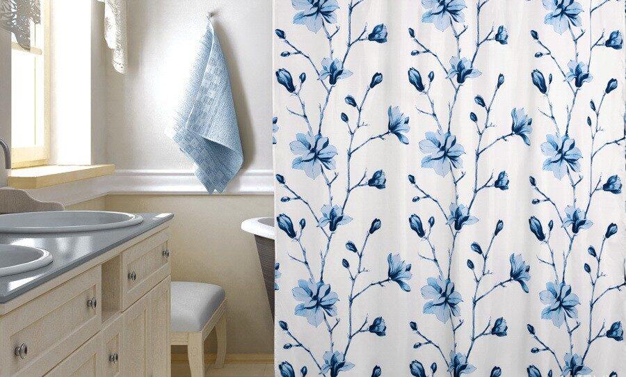 тканевая штора для ванной идеи