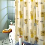 тканевая штора для ванной оформление фото