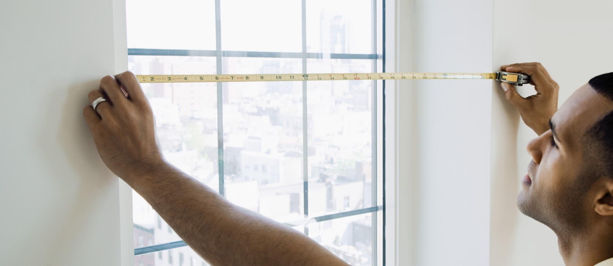 измерение окна для тюля