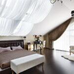 тюль в спальне виды декора