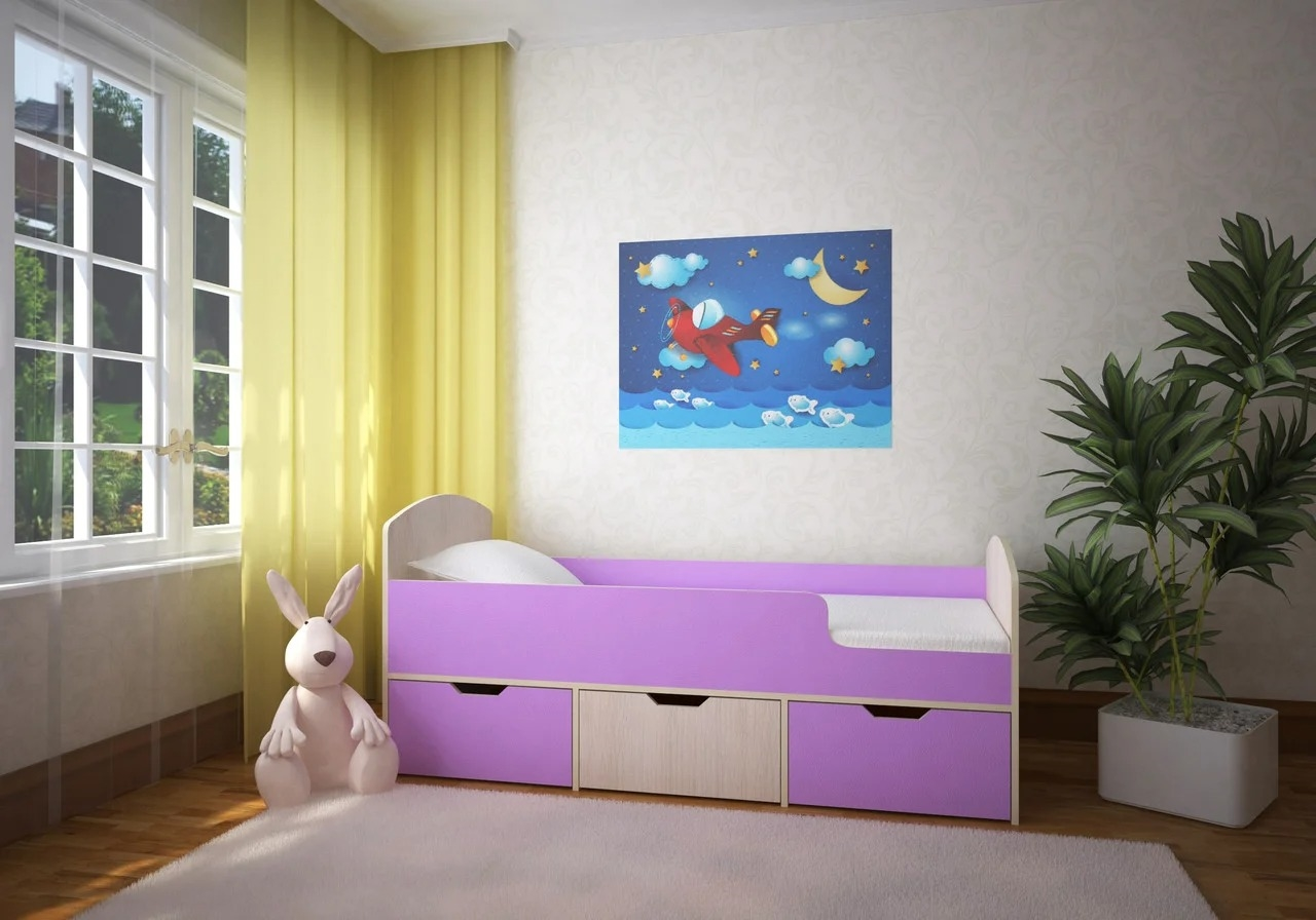 кровать для ребенка в спальне