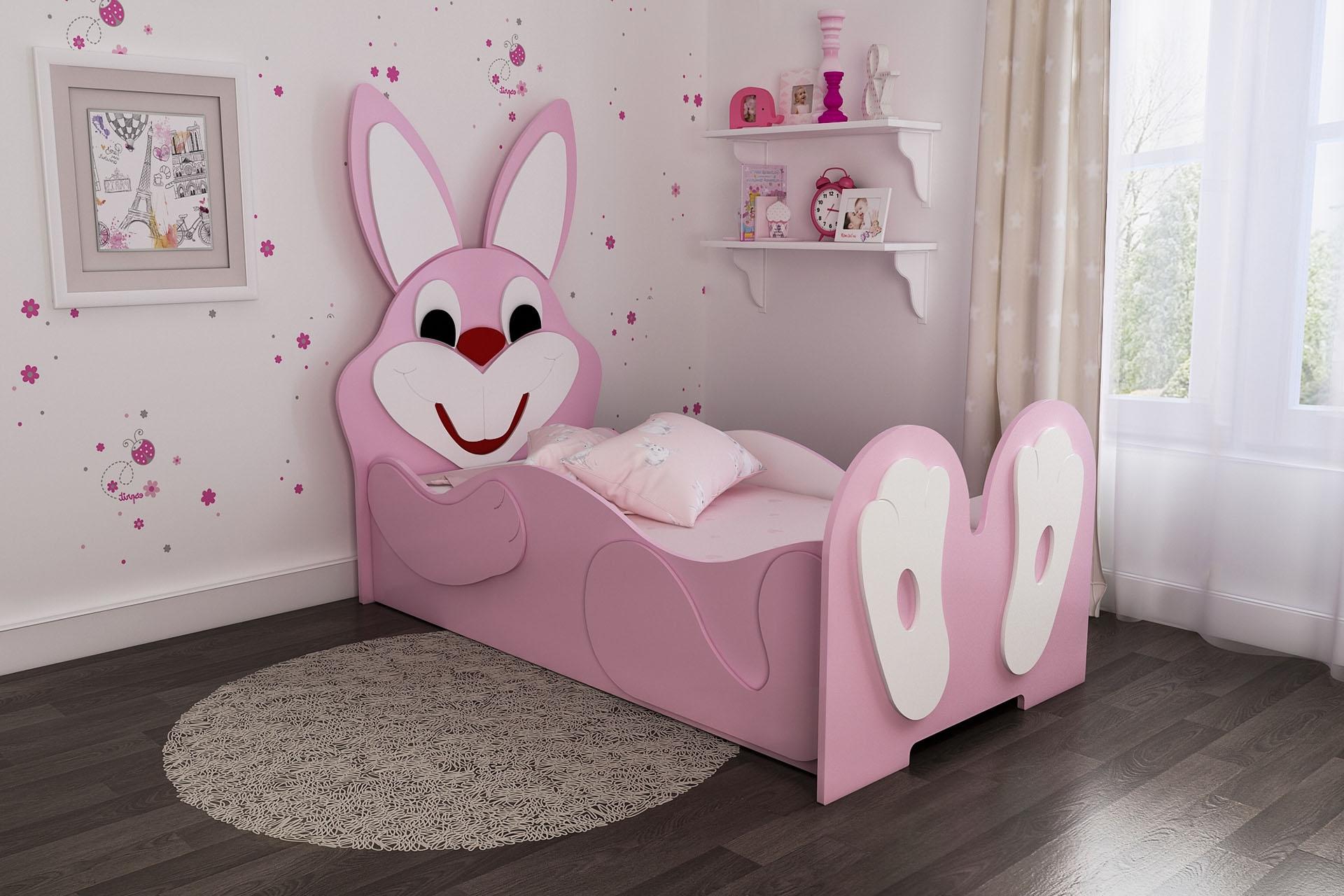 кроватка в виде зайчика