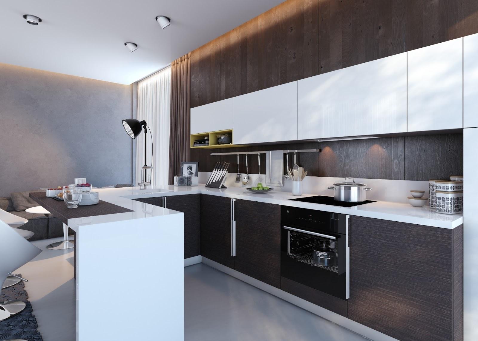 мебель венге на кухне