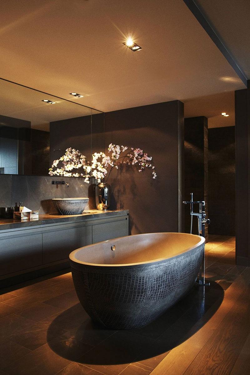 применение венге в ванной