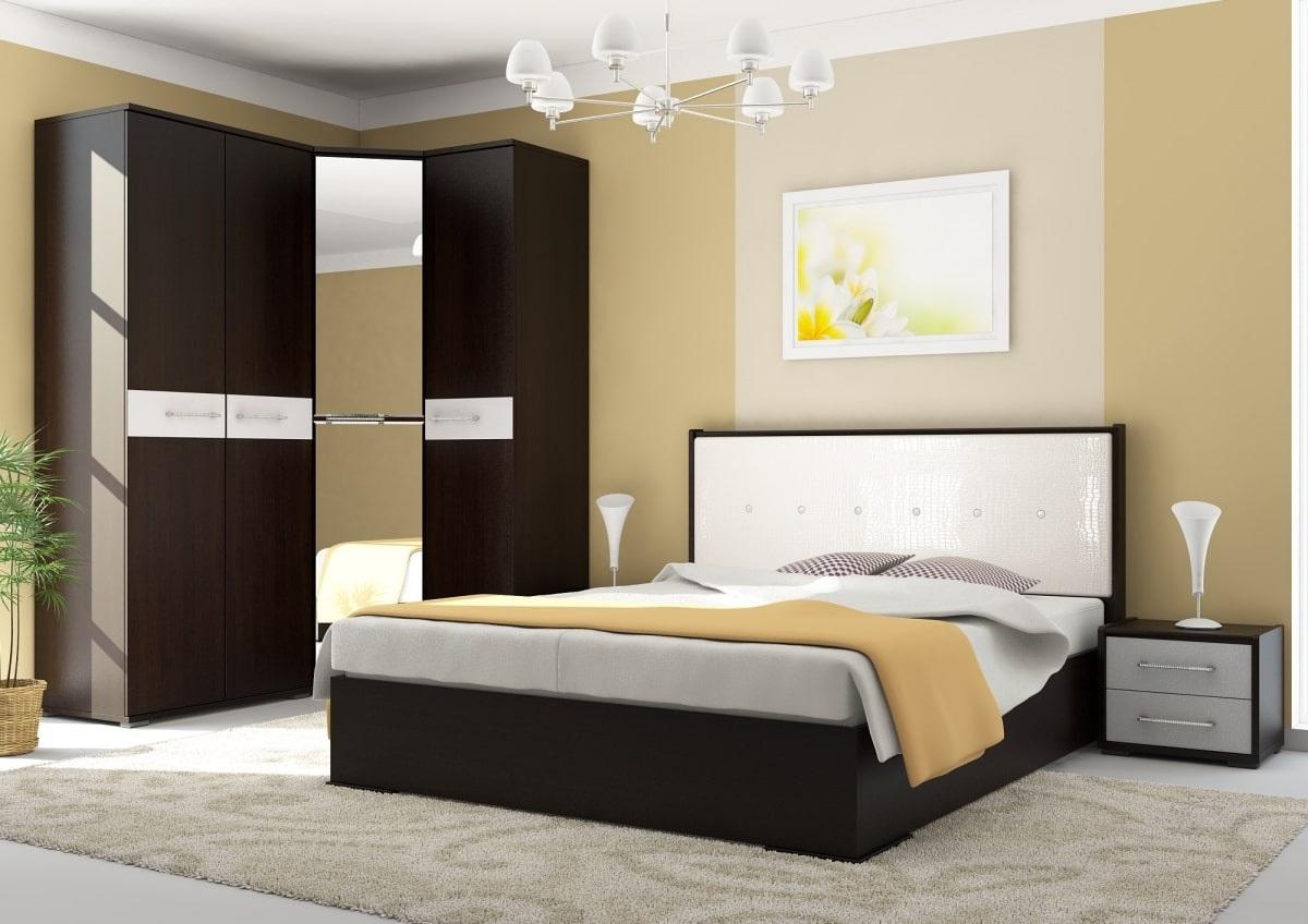 спальня с мебелью венге
