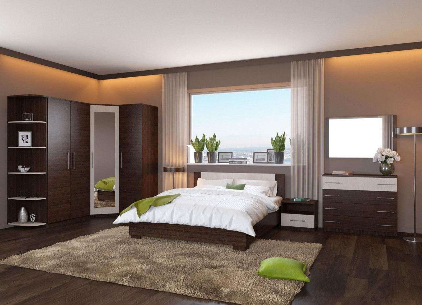 декор в спальне с венге