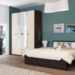 мебель венге с синими стенами