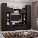 мебель венге шкаф в гостиной