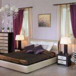 мебель венге с фиолетовыми шторами