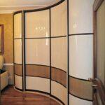 комбинированный радиусный шкаф