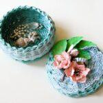 шкатулка плетеная маленькая
