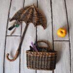 ключница зонтик плетеная
