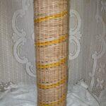шкатулка плетеная цилиндр