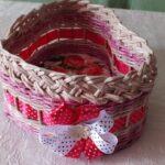 шкатулка плетеная с бантиком