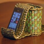 шкатулка плетеная для телефона