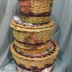 шкатулка плетеная тройная