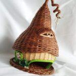 шкатулка плетеная дом из трубочек
