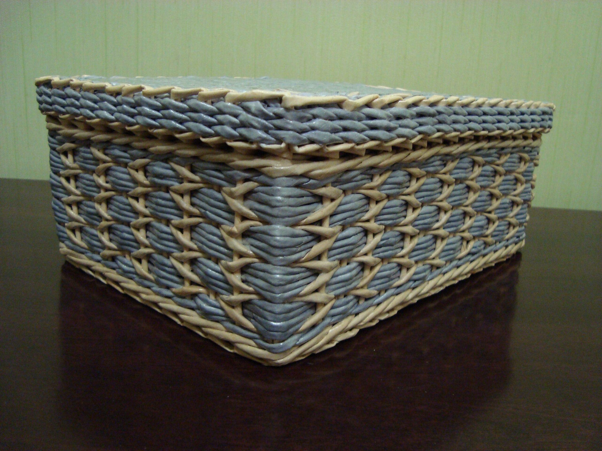 плетение квадратной шкатулки