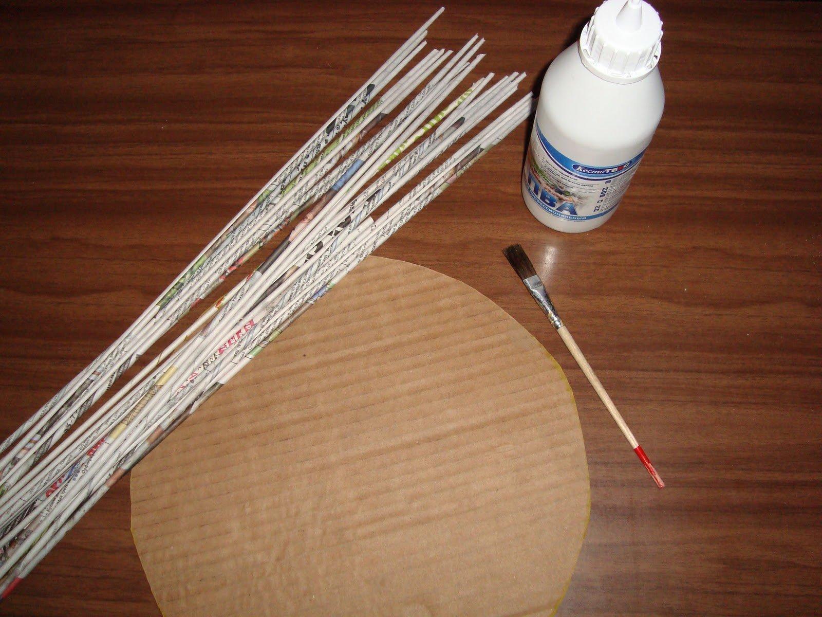 материалы для газетных трубочек