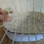процесс плетения шкатулки