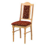 стул деревянный с коричневой обивкой