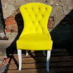 стул деревянный желтый мягкий