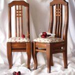 стул деревянный с вишнями