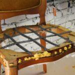 установка сиденья стула