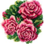 красивые розы в ковровой вышивке