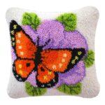 подушка Бабочка на цветке