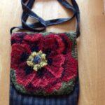 сумка с ковровой вышивкой