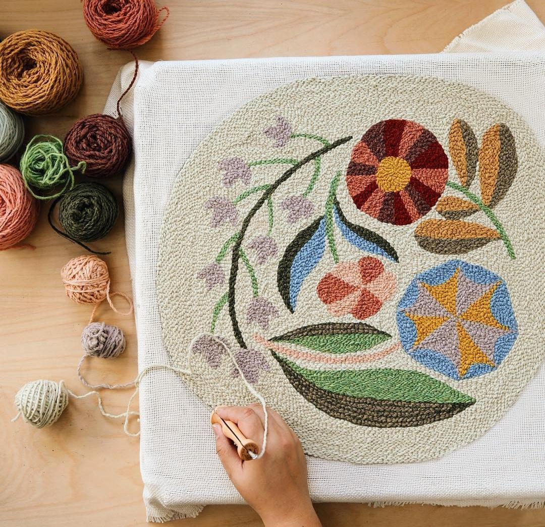 техники ковровой вышивки