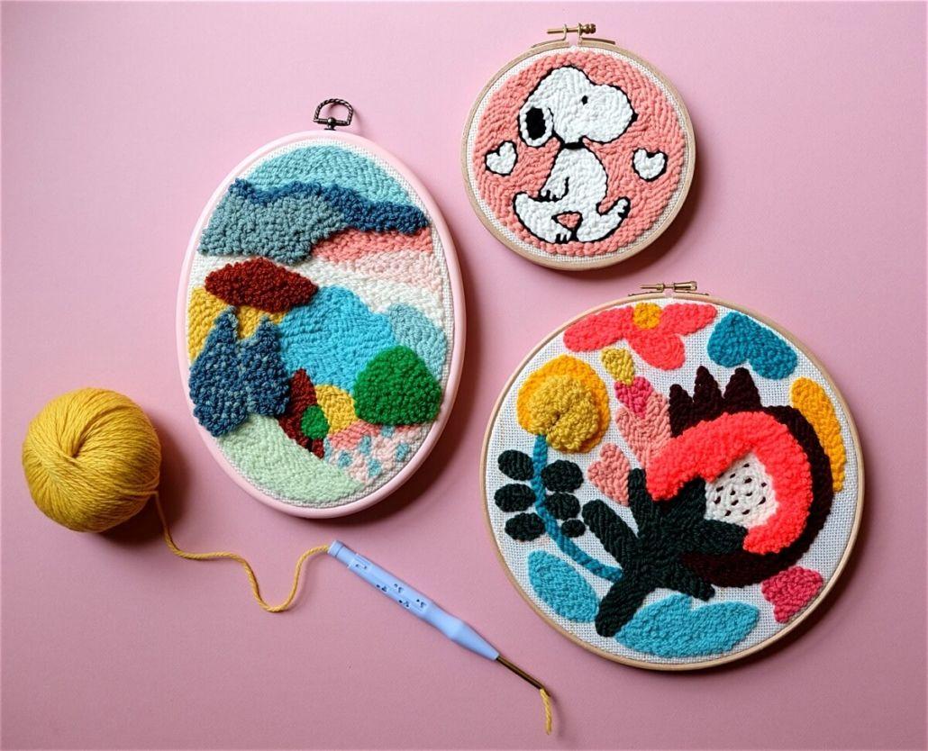 петельная техника вышивания