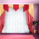 нежный тюль и яркие шторы