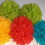 цветы из салфеток для цифры