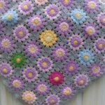 плед в цветочек