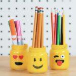 карандашница смайлики