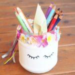 карандашница-единорожка