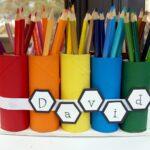 подставка для карандашей из разноцветной бумаги