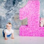 розовая объемная цифра