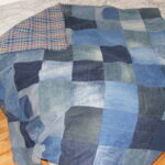 правила пошива пледа из кусков ткани