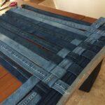 техника плетения из старых джинс