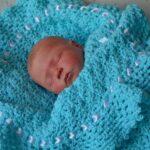 голубой плед для новорожденного