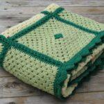плед Зеленые квадраты