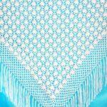 плед для новорожденного по схеме шали