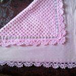розовый плед-шаль