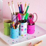 разноцветная карандашница