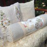 подушка валик из гречневой лузги